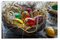 Easter eggs, Acrylic Print