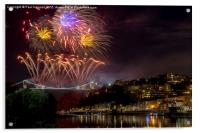 Clifton Suspension Bridge Fireworks, Acrylic Print