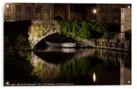 Bruges Canals, Acrylic Print