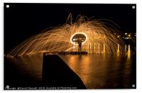Wire Wool Spinning  , Acrylic Print