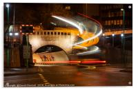 Mersey Tunnel Light Trails, Acrylic Print