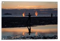 Anthony Gormley's Another Place , Acrylic Print