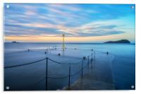 Sunset over the old pier, North Berwick, Acrylic Print