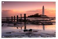 St Marys Lighthouse, Acrylic Print