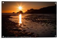 Sunrise at South Shields Beach, Acrylic Print