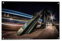 Bus Trails on the Tyne Bridge, Acrylic Print