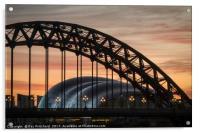 Tyne Bridge Sunrise, Acrylic Print