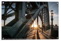 Sun Through the Tyne Bridge, Acrylic Print