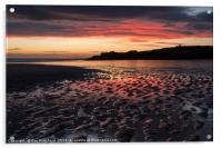 South Shields Beach at Sunrise, Acrylic Print
