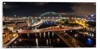 Tyne Bridge Panorama , Acrylic Print