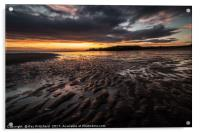 sunrise over South Shields Beach, Acrylic Print