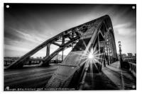Sun and the Tyne Bridge, Acrylic Print