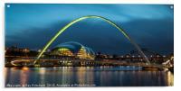 Green Millennium Bridge, Acrylic Print