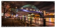 Tyne Bridge at Night, Acrylic Print