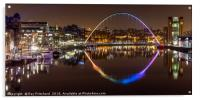Rainbow Millennium Bridge , Acrylic Print