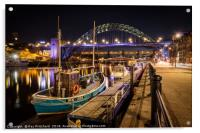 Newcastle Quayside, Acrylic Print