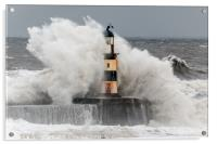 Big Waves at Seaham, Acrylic Print