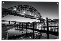 Tyne Bridge and a Puddle, Acrylic Print