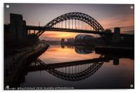 Sunrise at the Tyne Bridge, Acrylic Print