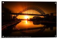 Tyne Bridge Artwork, Acrylic Print