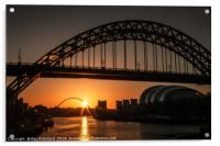 Tyne Bridge Sunrise , Acrylic Print