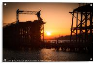 Dunston Staithes at Sunset, Acrylic Print