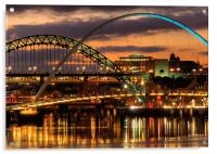 Tyne Bridges,Newcastle, Acrylic Print