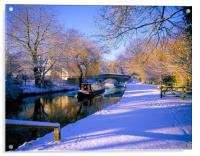 Basingstoke Canal in winter, Acrylic Print