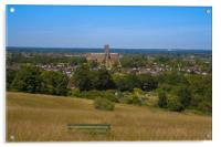 View to Guildford Cathedral, Acrylic Print