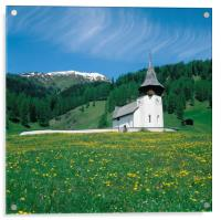 STAVE CHURCH ,DAVOS, SWITZERLAND , Acrylic Print