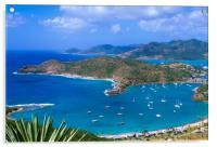 English Harbour Antigua, Caribbean , Acrylic Print