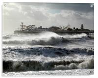 Brighton Storm, Acrylic Print