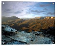 The Blue Mountains at Dawn, Acrylic Print