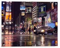 Tmes Square New York, Acrylic Print
