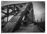 Tyne Bridge Walkway, Acrylic Print