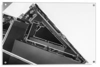 Triangle Space Ship, Acrylic Print