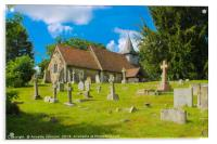 St Nicholas' is in Pyrford ('ford by a pear-tree'), Acrylic Print