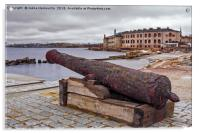 Old Cannon At The Port, Acrylic Print