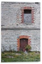 Door and Window At The Patarei Prison, Acrylic Print