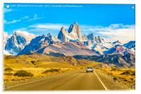 Snowy Andes Mountains, El Chalten, Argentina, Acrylic Print