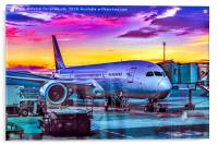 Plane Parked at Barajas Airport, Madrid, Spain, Acrylic Print