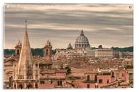 Rome Aerial View From Pincio Viewpoint, Acrylic Print
