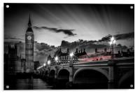 LONDON Westminster Bridge at Sunset, Acrylic Print