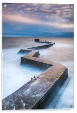 Breakwater at St Monans, Acrylic Print