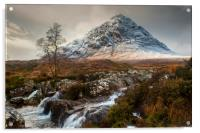 Glencoe in Winter, Acrylic Print