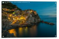Twilight in Manarola, Acrylic Print