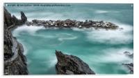 The Waves in Manarola, Acrylic Print