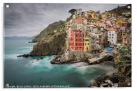 A Long Look at Riomaggiore, Acrylic Print