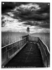 Newport Lighthouse                                , Acrylic Print