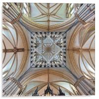 The Transept, Lincoln Cathedral, facing east., Acrylic Print